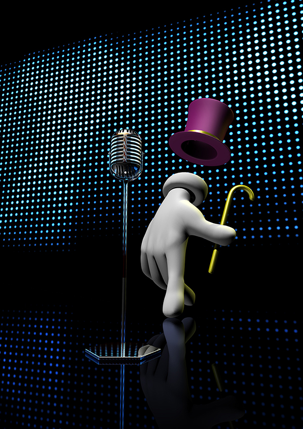muzemix soundmix Character 3D lightwave photoshop microphone hand hat