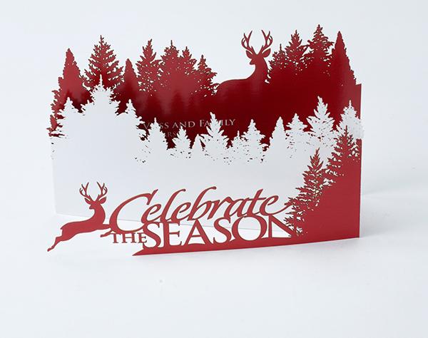 tri fold laser cut holiday card on behance - Tri Fold Christmas Cards