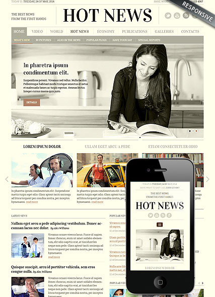 Newspaper Bootstrap Template Id300111817 On Behance