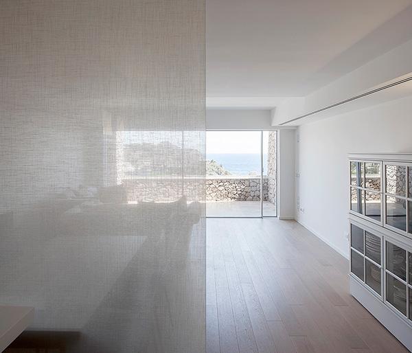 Sea view apartment holiday apartment Rain forest marble Piroscafo Aldo Rossi Mediterranean Sea italia Italy sicilia sicily furntiture Interior