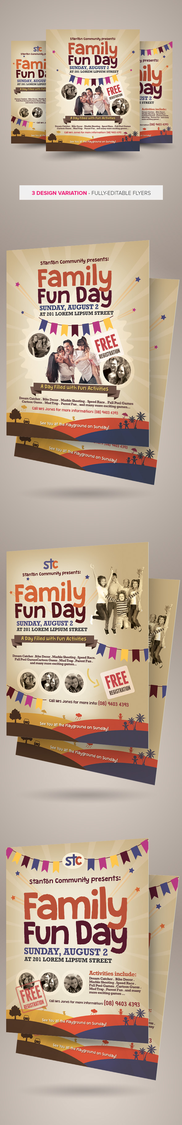family fun day flyers vol on behance family fun day flyers are design templates created for on creative market more info of the templates and how to get the sourcefiles can be found on