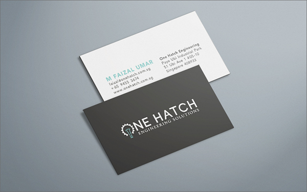 Branding one hatch engineering on behance business card design one hatch engineering singapore reheart Images