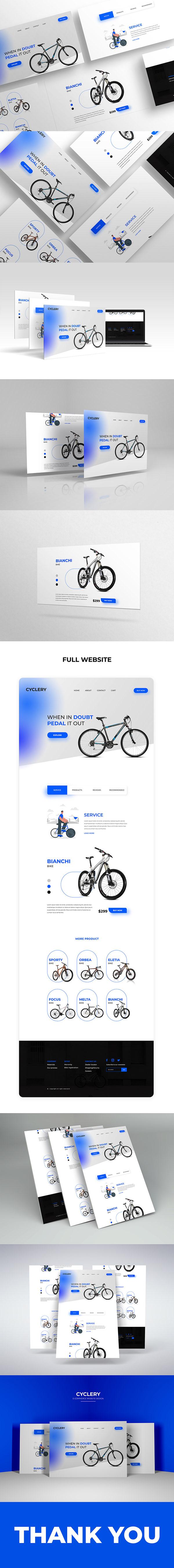 CYCLERY - Website Design