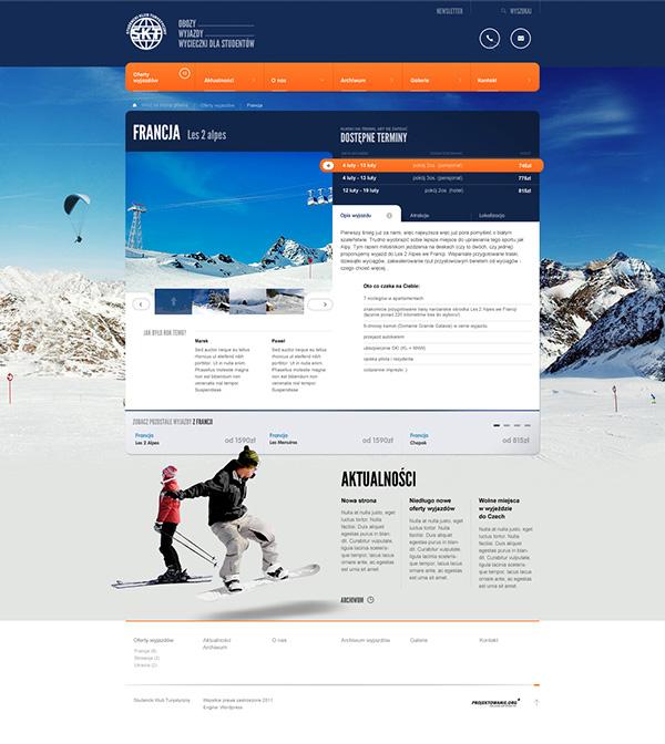 skt www Web Webdesign Website blue winter summer Travel Students student students life clean wordpress