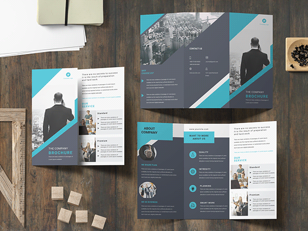 Corporate trifold