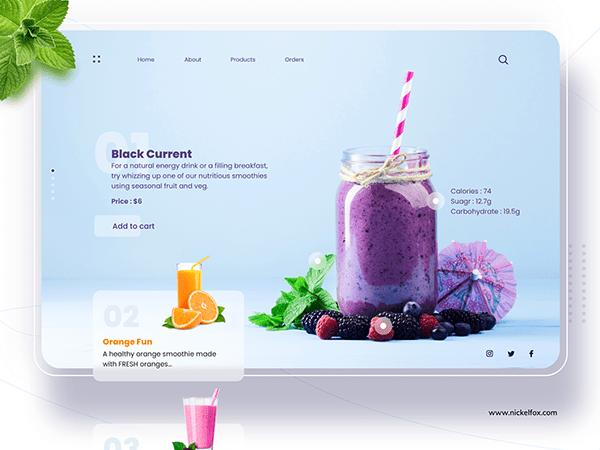 Smoothiely - Food and Beverage Webiste