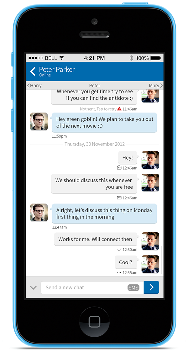 iphone mobile ui design