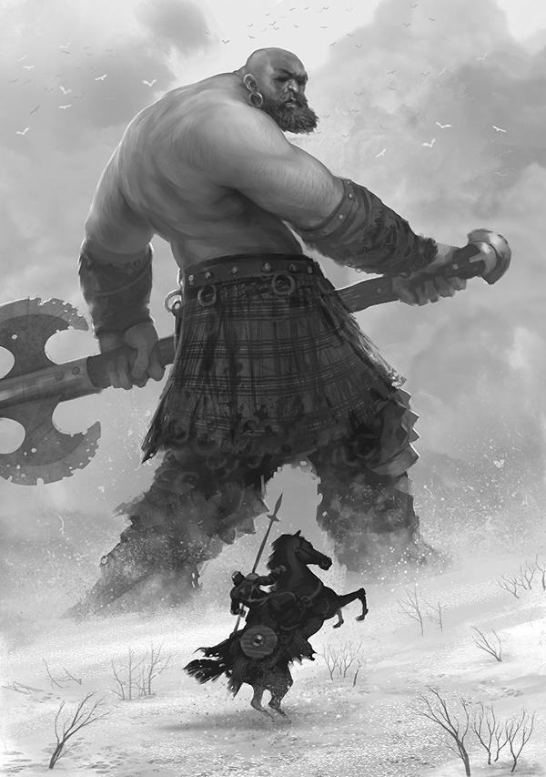 Viking Badass by Romain Flamand