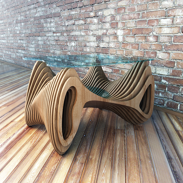 """Architect Furniture: Parametric Table """"spider"""" On Behance"""