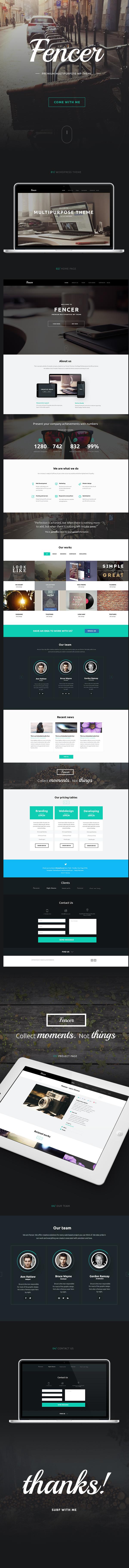 Web Webdesign buy themeforest landing business corporate wordpress Responsive