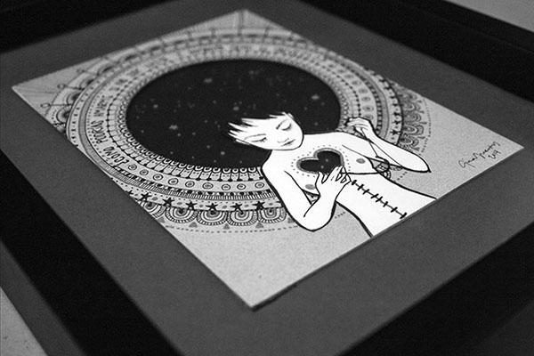 universe universo paper cut estrellas infinito