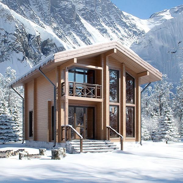 Visualization wooden house for ski resort on behance