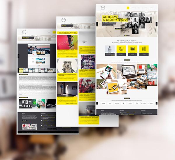 skokov free corporate web design template psd on behance