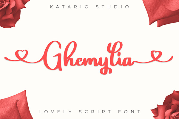 Ghemylia | Lovely Script Font