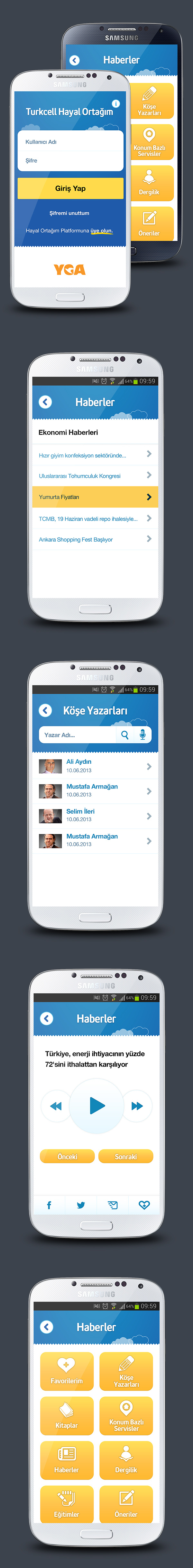 Turkcell android Samsung hayal mobile design best blue cloud