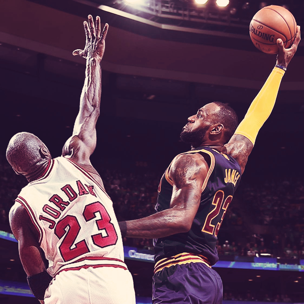 Lebron James Vs Michael Jordan On Behance