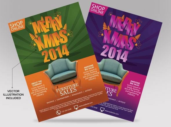 christmas sales flyer on behance