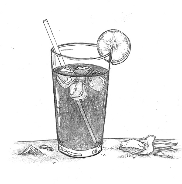 Image Gallery iced tea drawing