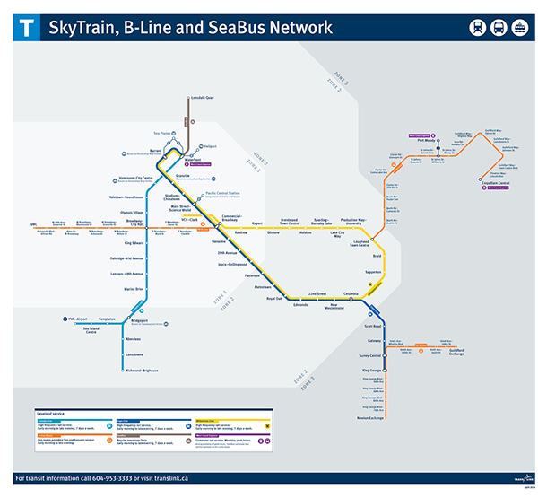 Translink Skytrain Map Translink Rolls Out Changes To