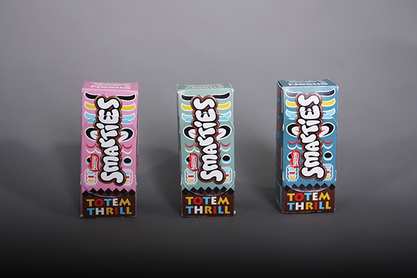 Smarties: Totem Thrill on Behance Smarties Box Design