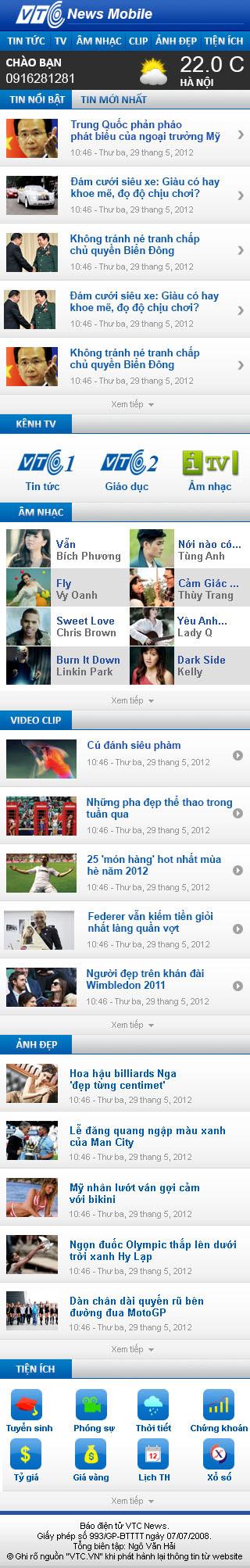 VTC mobile news