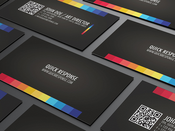 a clean and high detailed textured background business card for your business surprised them with this card with integration of quick response code qr - Quick Response Code Business Card