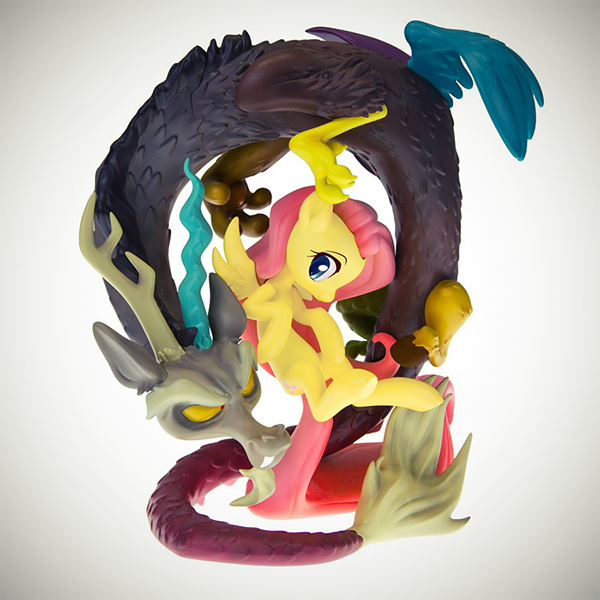 Mlp Fluttershy And Discord Resin Statue On Behance