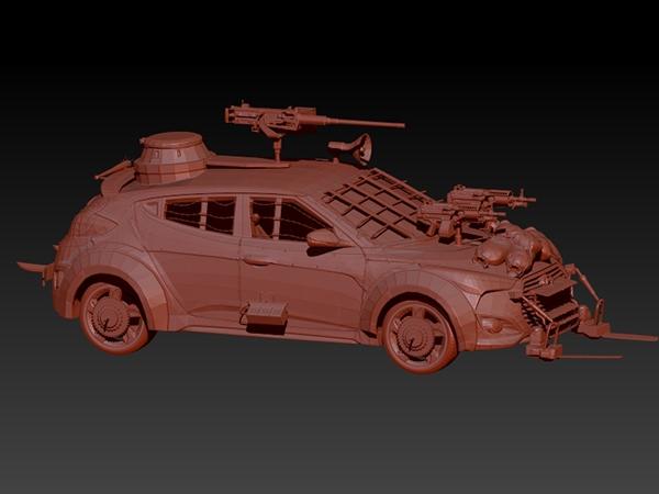 Zombie Survival Machine Hyundai Veloster On Behance