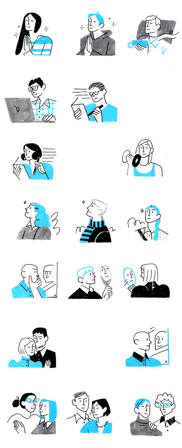 psychotherapy website_illustration Minimalism motivation mental_health