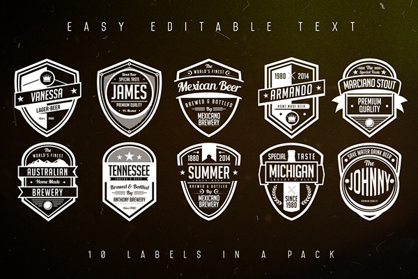 Vintage Beer Labels Pack On Behance