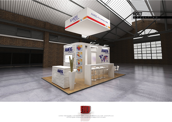 Simple Exhibition Stand Zone : Amos spacecom satcom on behance