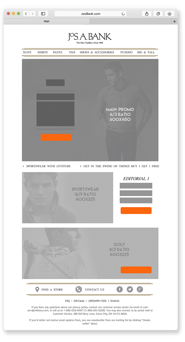 Jos A Bank Email Templates On Behance