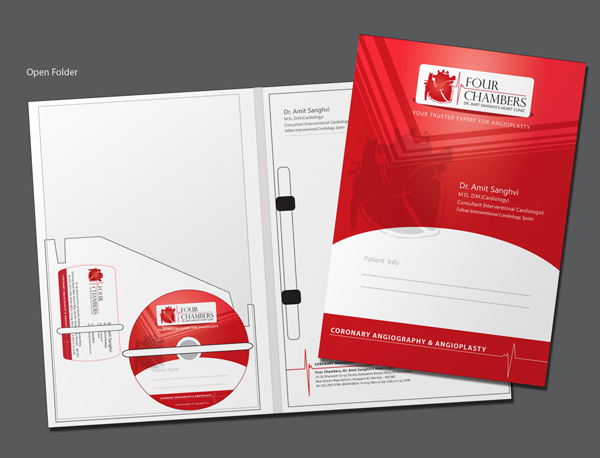 Four Chambers Heart Clinic Branding on Pantone Canvas Gallery