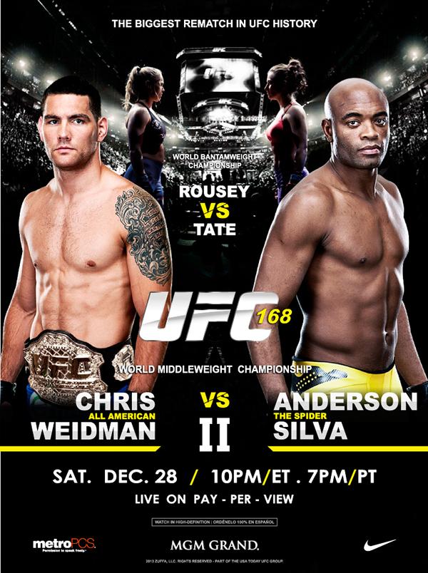 UFC 168  Chris Weidman vs Anderson Silva IIUfc 168 Poster
