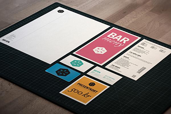 Spa visual identity print Web Signage