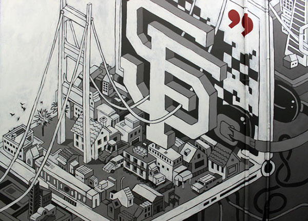 San francisco mural on behance for Corporate mural