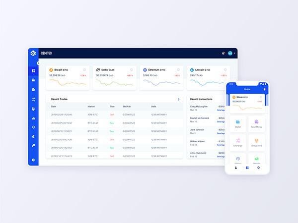 Money Transfer and Exchange Web App - UI/UX Design
