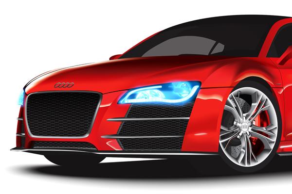 VECTOR AUDI On Behance - Audi car vector