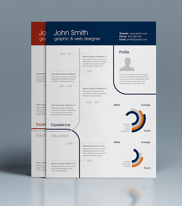 Free Clean One-Page Resume On Behance