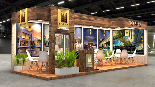 Property Exhibition Booth Design : Sobha exhibition design for indian property show duabi on