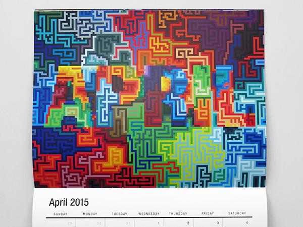 mwmgraphics mwm graphics mattwmoore matt w moore vectorfunk calendar letterformations