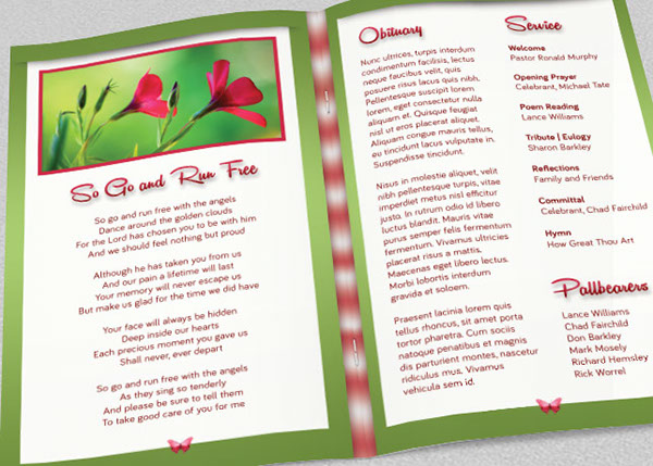 Child Funeral Program Template on Behance – Child Funeral Program Template