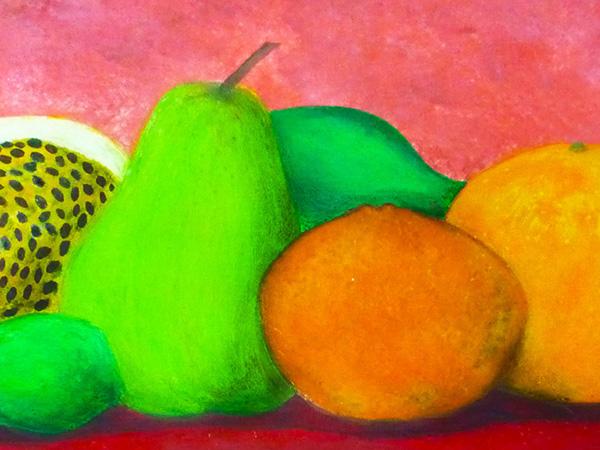still life,iphone,Fruit,Food ,paint,acrylic