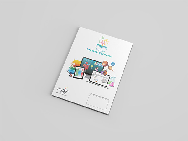 Pesona Edu's company profile and product catalogue books back side