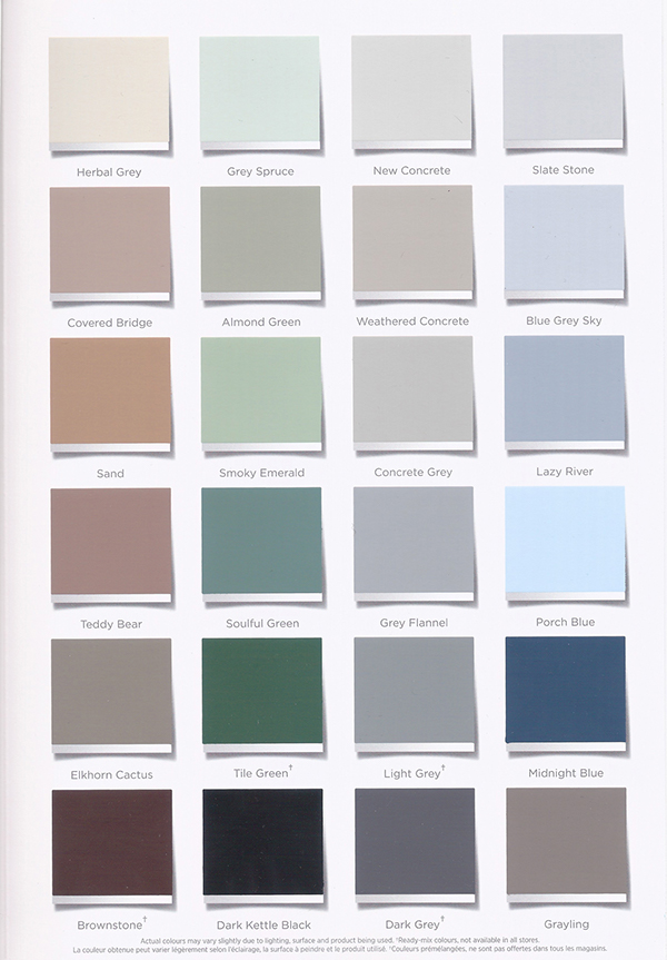 Design Amp Production Porch Paint Color Card Brochure On Behance