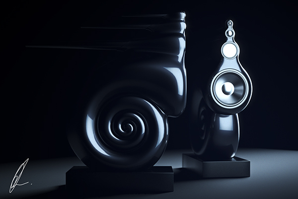 bowers and wilkins nautilus speakers on behance. Black Bedroom Furniture Sets. Home Design Ideas