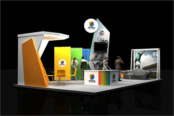 Exhibition Stall On Behance : Wipro gitex dubai stall on behance