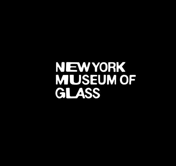 museum brand identity Glass Museum New York logo workmark distortion