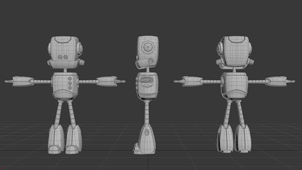 robot Walk Cycle Render 3D modeling
