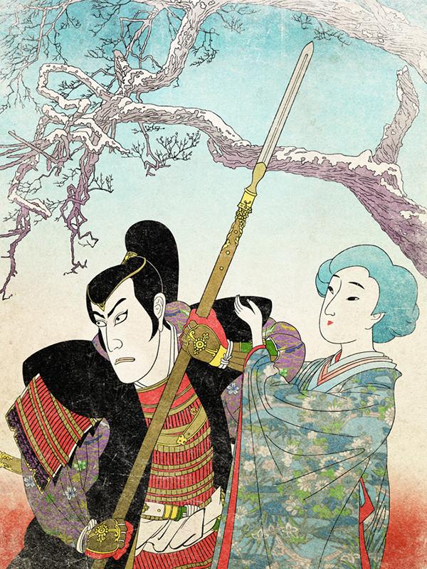 dresden dolls japanese ukiyo-e naruto anime manga